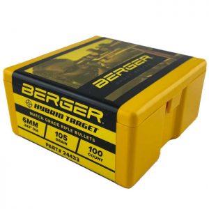 Berger Hybrid Bullets 6mm (243 Diameter) 105 Grain