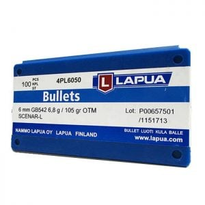 Lapua Scenar-L Bullets 243 Caliber, 6mm