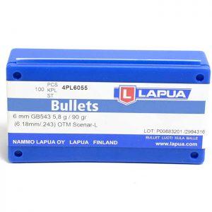 Lapua Scenar-L Bullets 243 Caliber, 6mm 90 Grain