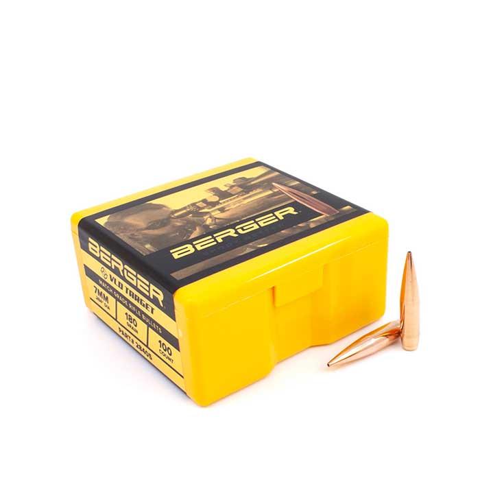 Berger 7mm VLD 180 Grain Target Bullets