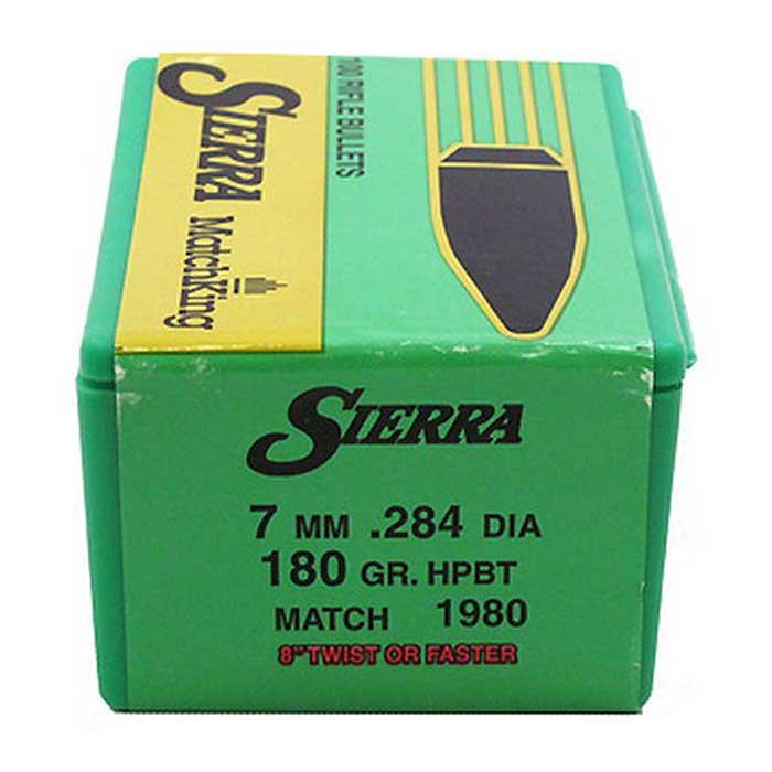 Sierra 7mm 180 HPBT MatchKing Bullets