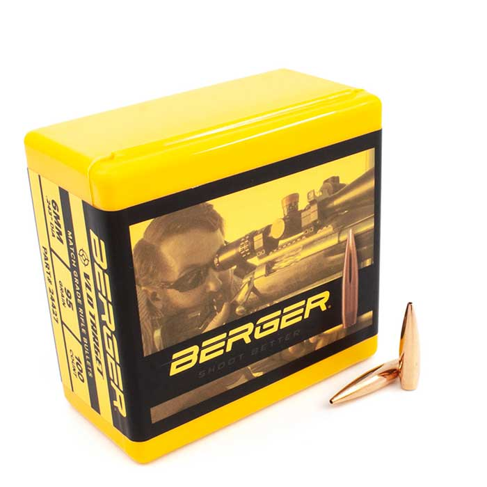 Berger VLD Target Rifle Bullets 6mm 95 Grain